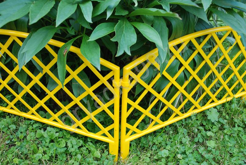 Декоративный заборчик для клумб из пластика своими руками