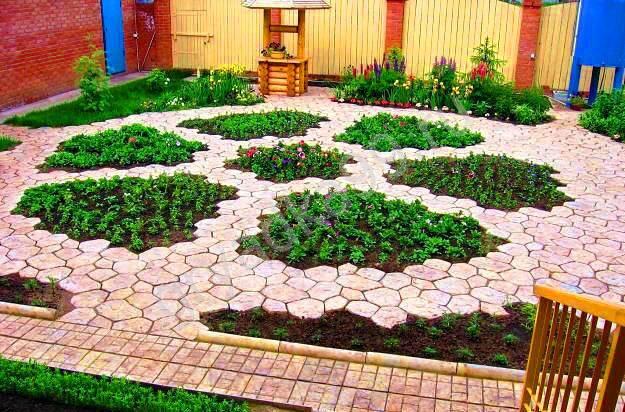Формы садовая дорожка из тротуарной плитки своими руками