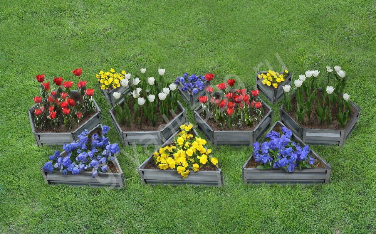 Грядки для цветов на даче